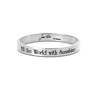 Couture Kingdom White Gold-Plated Bangle, Snow White - Snow White Gifts
