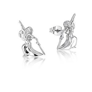 Couture Kingdom White Gold-Plated Earrings, Disney Mulan - Disney Jewellery Gifts