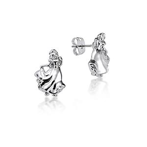 Couture Kingdom White Gold-Plated Earrings, Snow White - Snow White Gifts