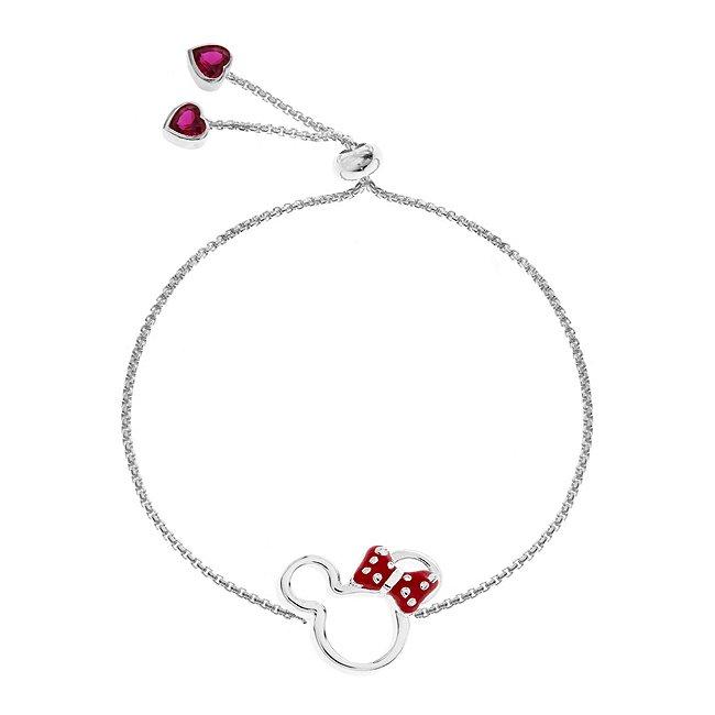 Bracelet Minnie Mouse plaqué argent à glissière