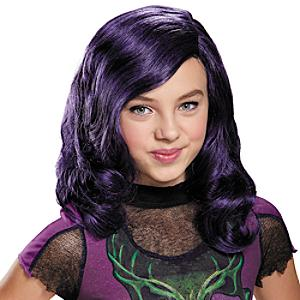 Perruque violette Mal, Disney Descendants, pour enfants