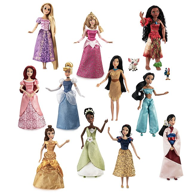 Disney Store lot de 11 poupées disney princesses