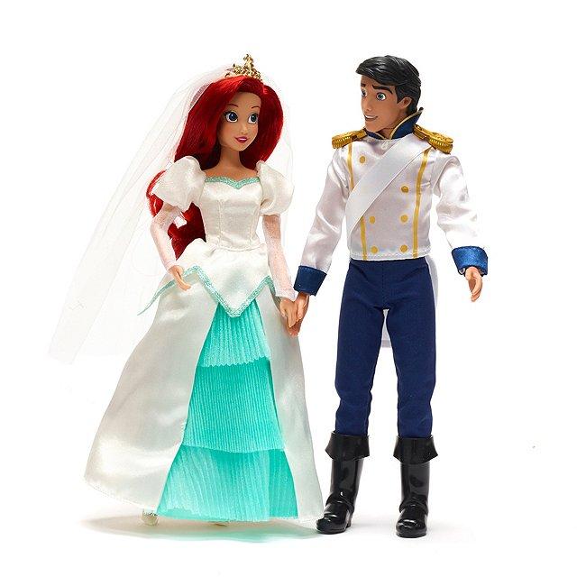 Disney Store coffret de poupées mariage d'ariel et ‰ric, la petite sirène
