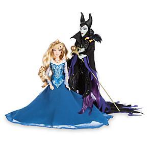 Disney Märchen Designer-Kollektion Aurora & Maleficent Puppen, limitierte Aufl.