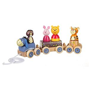 Winnie the Pooh Wooden Train - Train Gifts