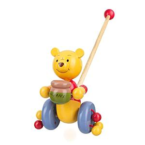 Winnie the Pooh Wooden Push Along Toy - Winnie The Pooh Gifts