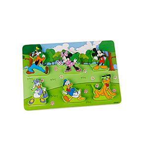 Mickey and Friends Baby Wooden Puzzle - Puzzle Gifts