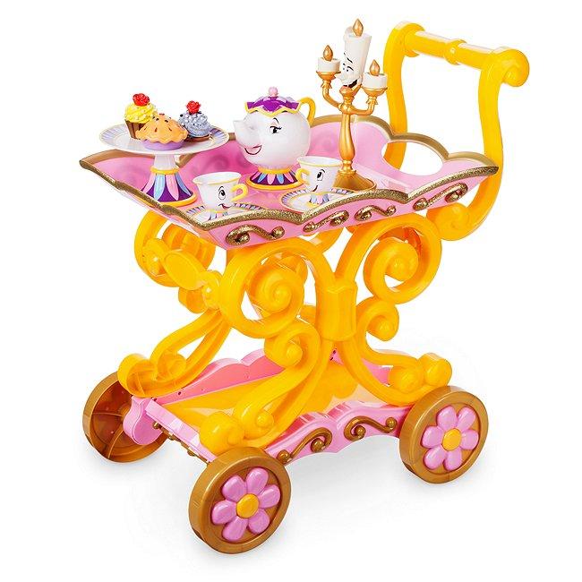 Disney Store chariot à thé belle, la belle et la bête