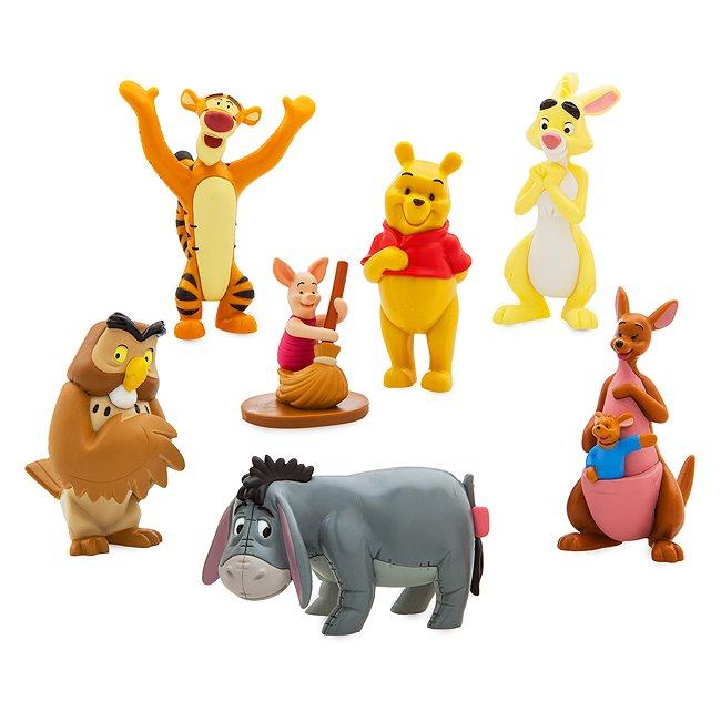 Coffret de figurines winnie l'ourson, disney store