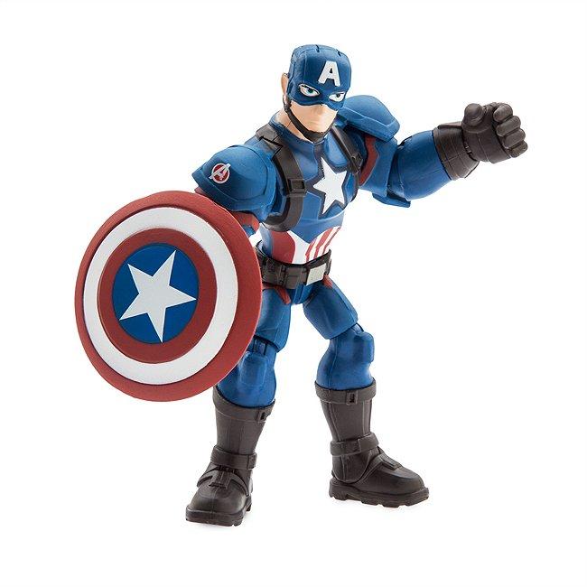 Figurine articulée Captain America, collection Marvel Toybox