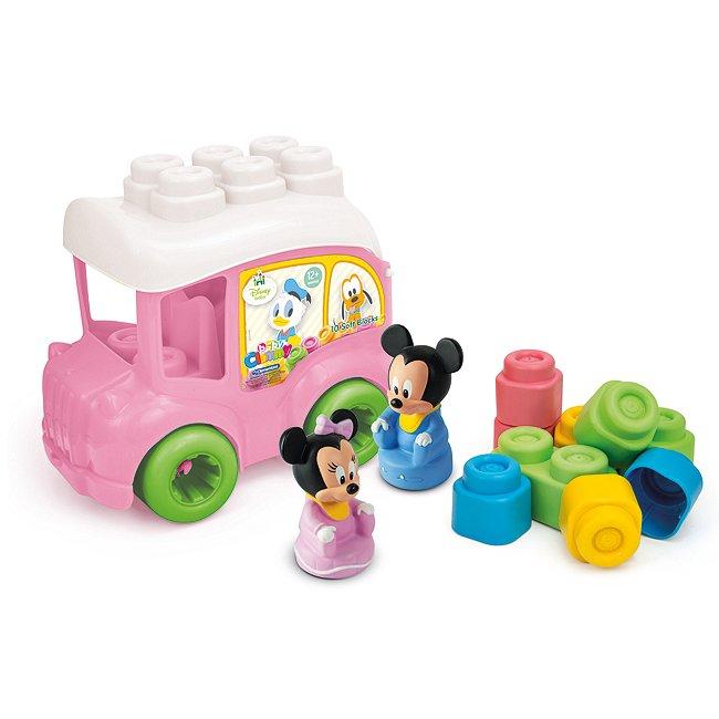 Bus Minnie mouse avec briques, baby clementoni