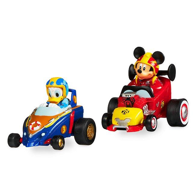 Disney Store mickey et donald pilotes de course et leurs voitures miniatures à friction
