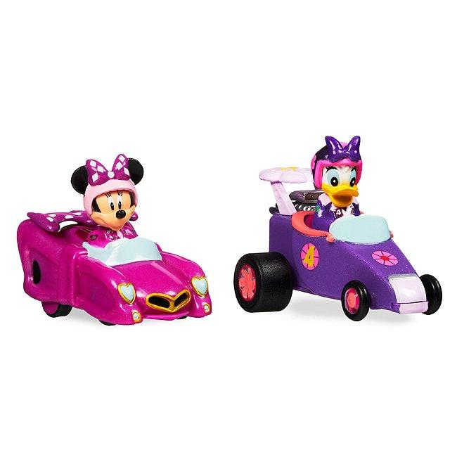 Disney Store minnie et daisy pilotes de course et leurs voitures miniatures à friction