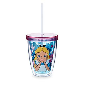 Alice in Wonderland Tumbler with Colour Changing Straw - Alice In Wonderland Gifts
