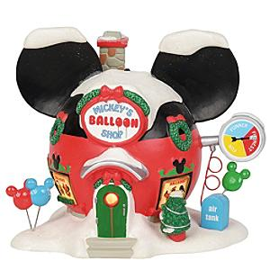 Enesco Mickey's Balloon Shop Disney Village Figurine