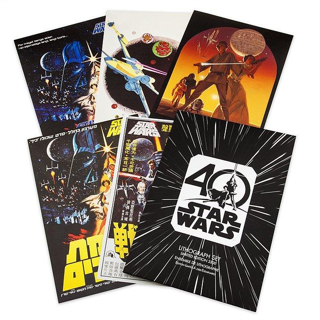 Ensemble de 5lithographies en édition limitée, 40eanniversaire de star wars