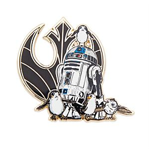 Limited Edition R2-D2 & Porgs Pin and Lithograph