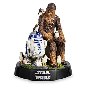 Limited Edition Chewbacca, R2-D2 and Porgs Figurine - Figurine Gifts