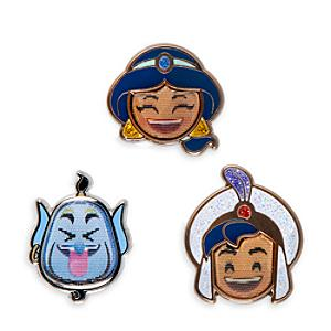 Aladdin Emoji Pins, Set of 3 - Aladdin Gifts