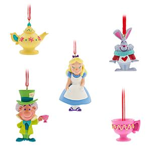 Alice in Wonderland Hanging Ornaments, Set of 5 - Ornaments Gifts
