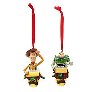 Buzz and Woody Festive Hanging Ornaments, Set of 2 - Ornaments Gifts