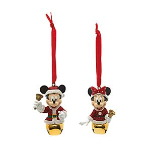 Mickey and Minnie Mouse Festive Hanging Ornaments - Ornaments Gifts