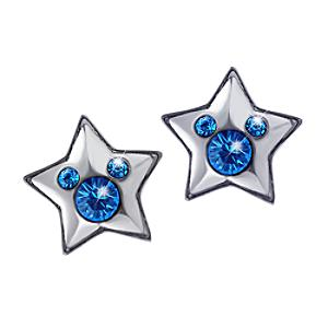 Disneyland Paris 25th Anniversary Blue Star Earrings - Wedding Anniversary Gifts