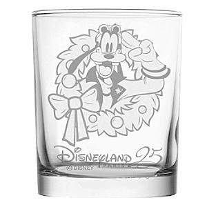 Goofy Personalised 25th Anniversary Glass Tumbler - Wedding Anniversary Gifts