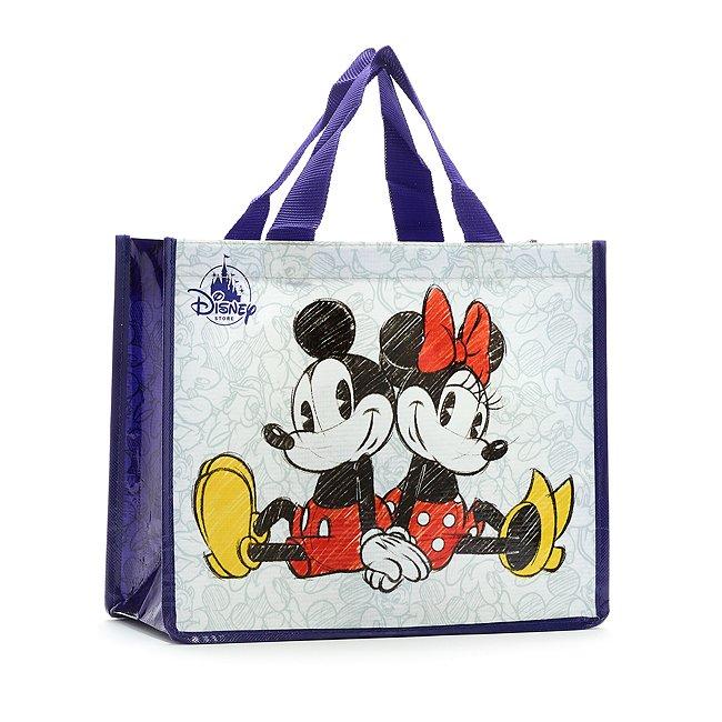 Disney Store Micky und Minnie Maus Mehrweg-Einkaufstasche, klein