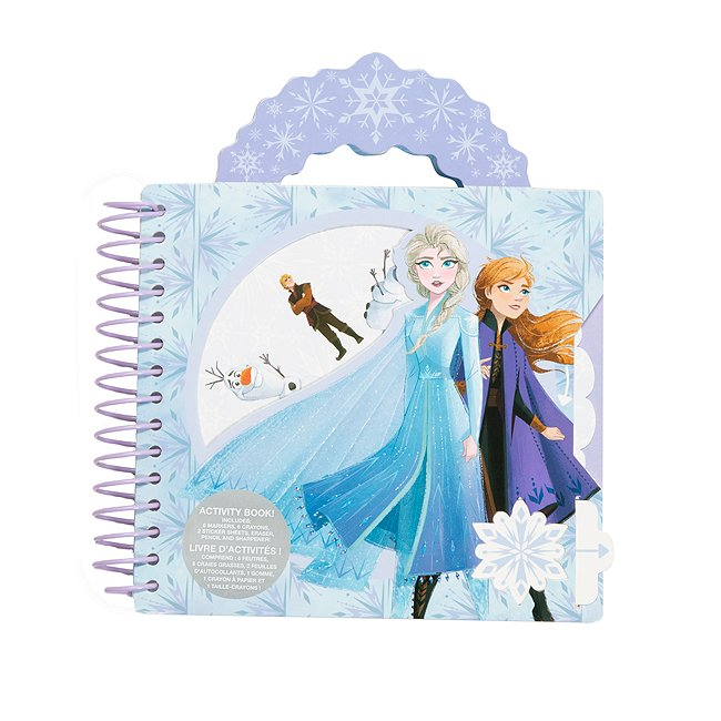 Disney Store livre d'activités à spirales la reine des neiges2