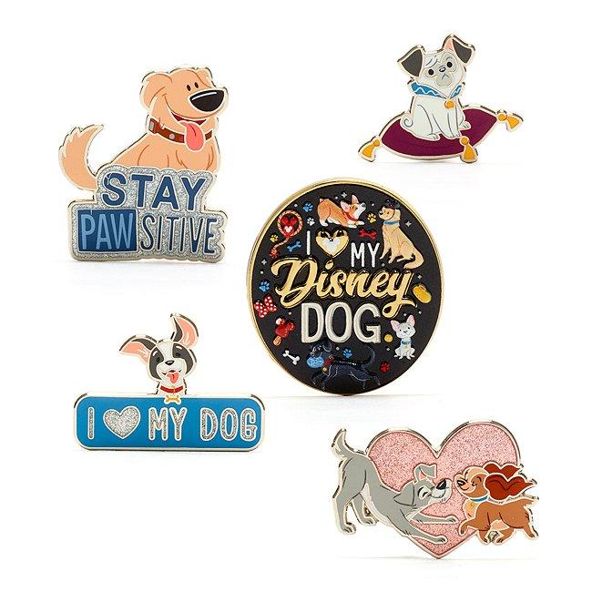 Set pins perros Disney, Disney Store