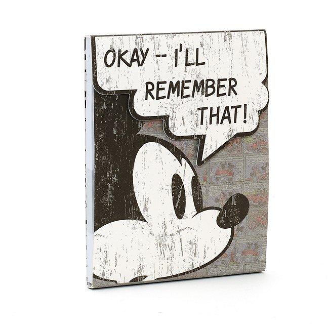 Bloc de feuilles adhésives bande dessinée mickey