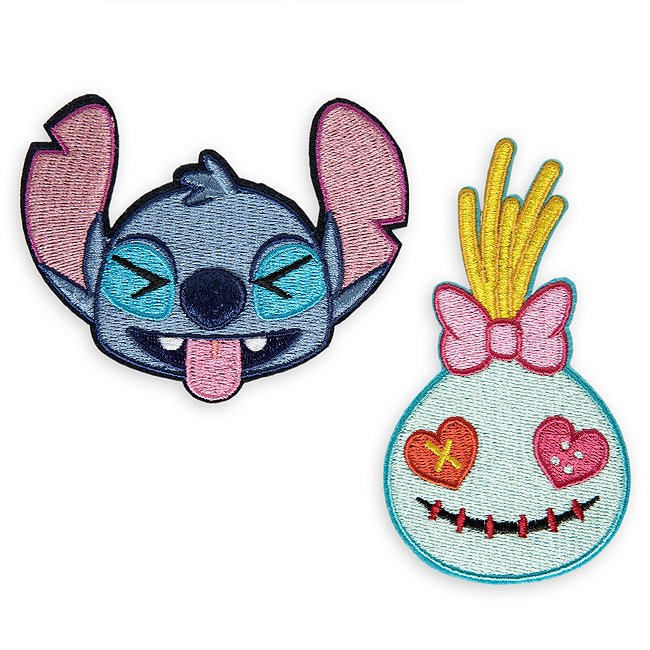 ‰cussons Autocollants disney emoji stitch et souillon