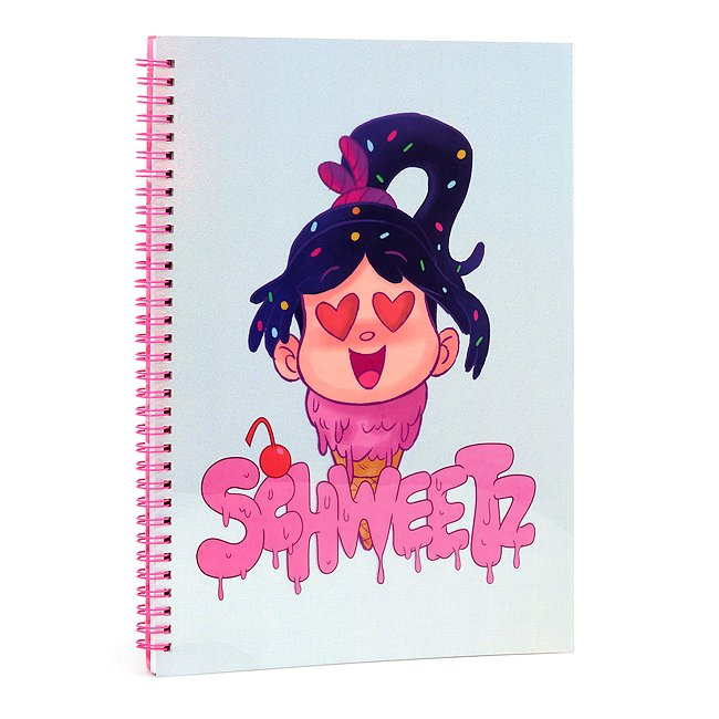 Image of Quaderno A4 Vanellope, Ralph Spaccatutto 2 Disney Store