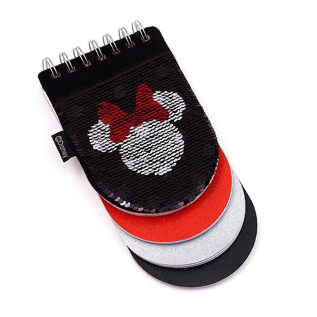 Disney Store cahier minnie mouse à sequins réversibles avec intercalaires intégrés