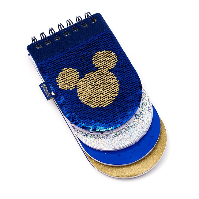 Image of Quaderno con paillettes reversibile suddiviso in sezioni Topolino Disney Store