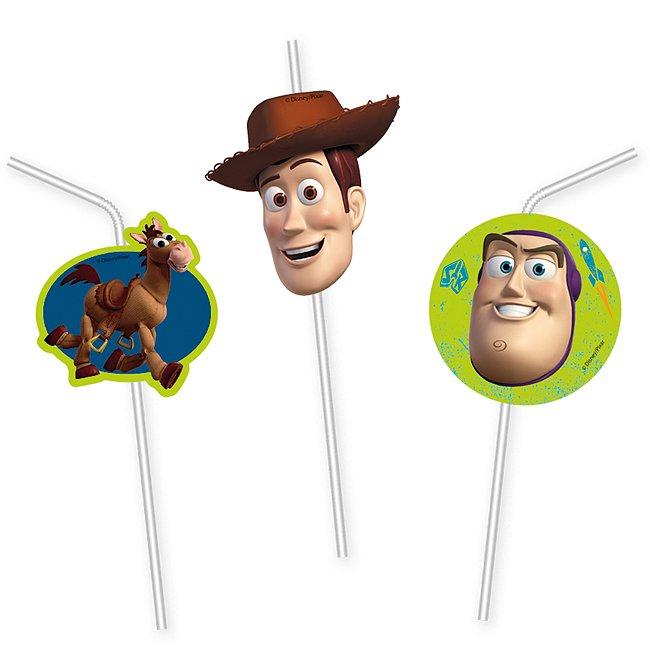 Toy Story - 6 x biegsame Strohhalme