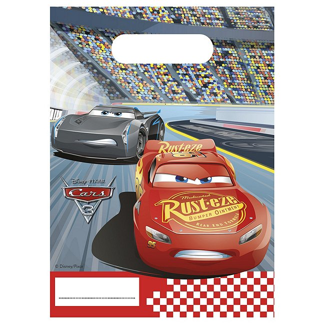 Image of Disney Pixar Cars 3, 6 sacchettini