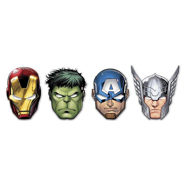 6masques de fête marvel avengers