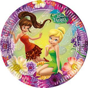 Disney Fairies 8x Party Plate Set - Disney Fairies Gifts