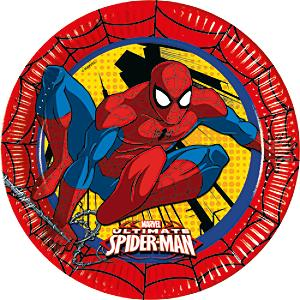 8 assiettes de fête Spider-Man