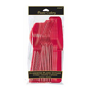 Red Cutlery 24 Piece Set - Cutlery Gifts
