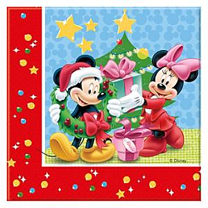 Lot de 20 serviettes de Noël Mickey Mouse