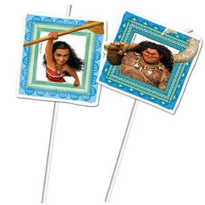 Moana 6x Bendy Straws Set