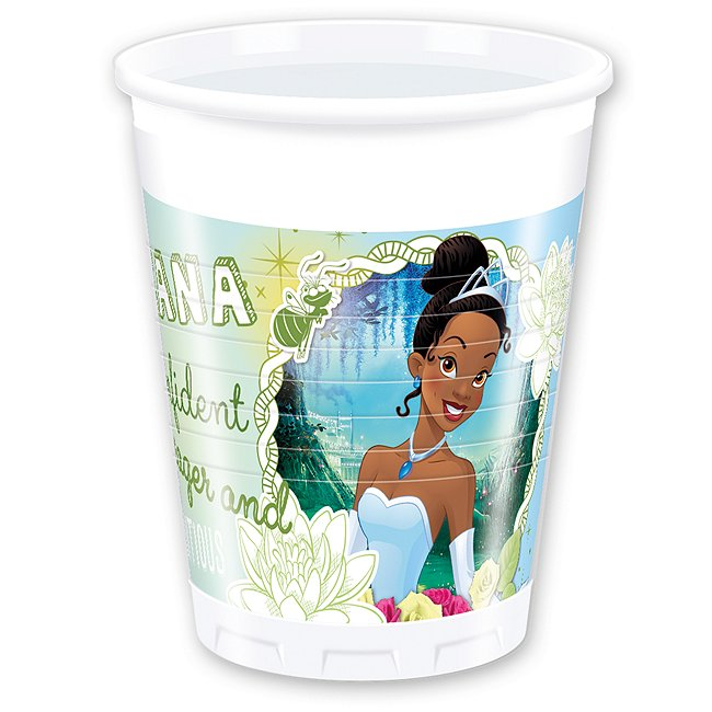 Disney Store Küss den Frosch Tiana, 8 x Partybecher