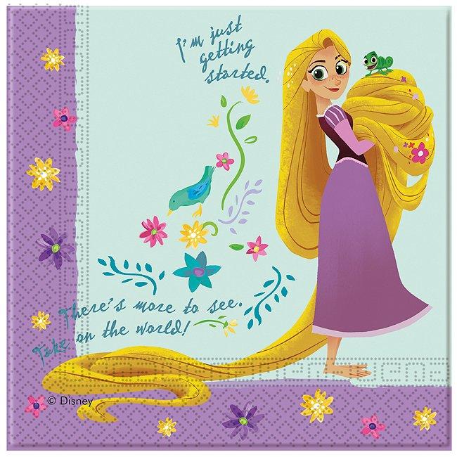 Rapunzel - 20 x Partyservietten Rapunzel - Neu verföhnt - Die Serie