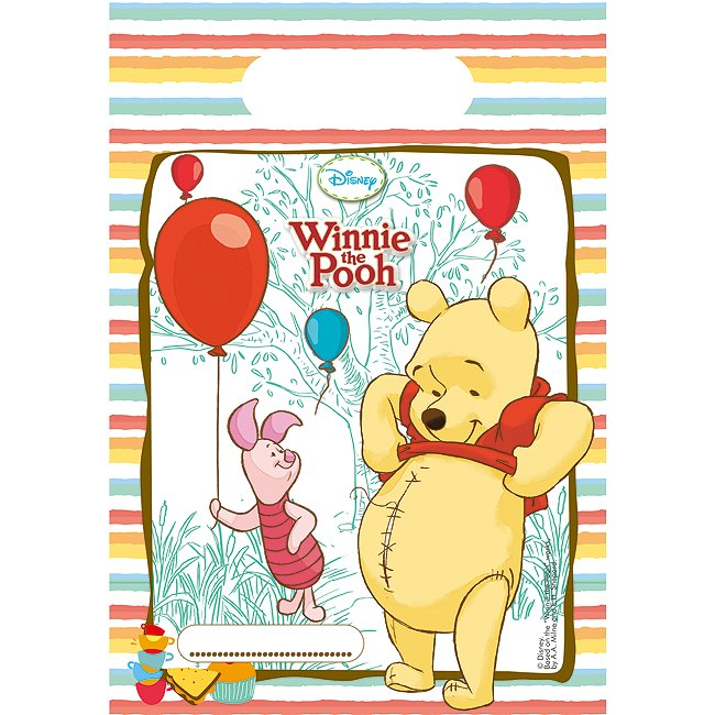 Image of Lot de 6 sachets cadeaux Winnie l'Ourson