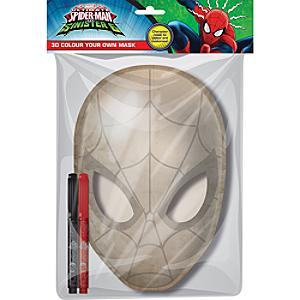 Spider-Man 3D Colour Your Own Mask - Marvel Gifts