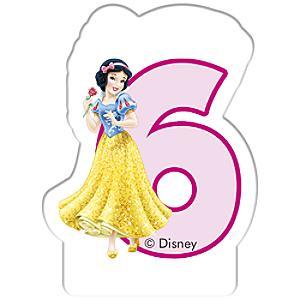 Disney Prinzessin - Geburtstagskerze 6 Jahre
