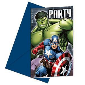 Ensemble de 6 invitations de fête Avengers Rassemblement de Marvel